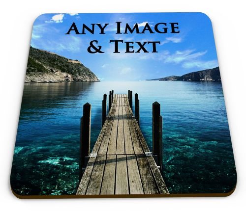 Personalised Any Image & Any Text Glossy Mug Coasters
